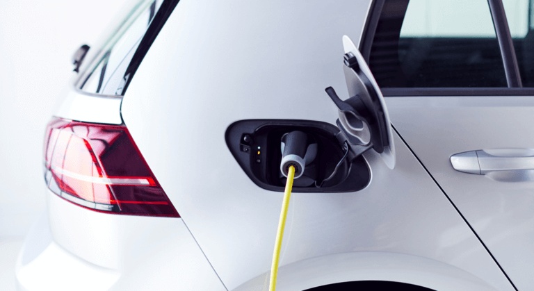 Charge an electric car at homecharger